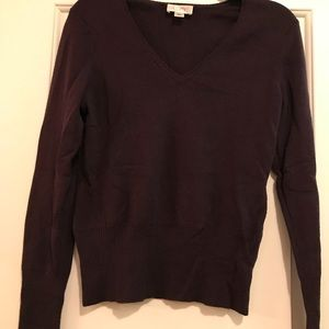 Dark purple Loft sweater